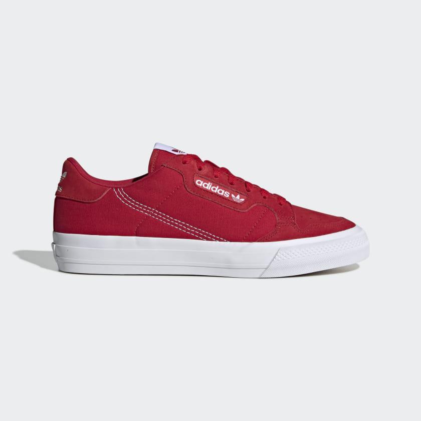Кроссовки мужские Adidas Continental Vulc красные (EF3525)