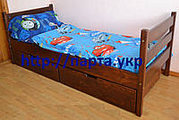 Кровать  из дерева (массив) с ящиками