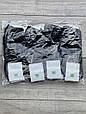 Чоловічі шкарпетки коттон короткі носки Montebello з буквою М однотонні 40-45 12 шт в уп чорні, фото 2