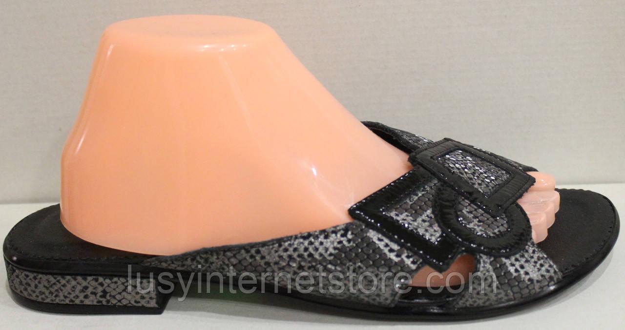 Сабо женские кожаные на низком каблуке от производителя модель МИ9626-13