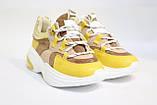 Стильные молодежные кроссовки желтого цвета.Стильні молодіжні кросівки жовтого кольору., фото 5