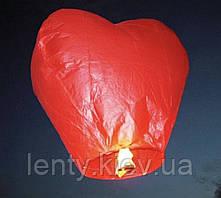 Небесные летающие китайские фонарики желаний (Сердце 95х145 см)-