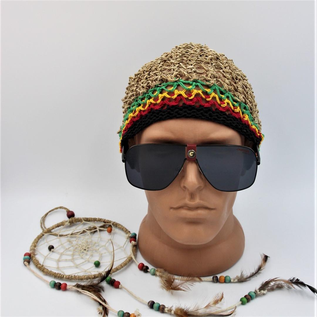 Солнцезащитные очки  маска, с кожаной вставкой.CR1018|S.Мужские.