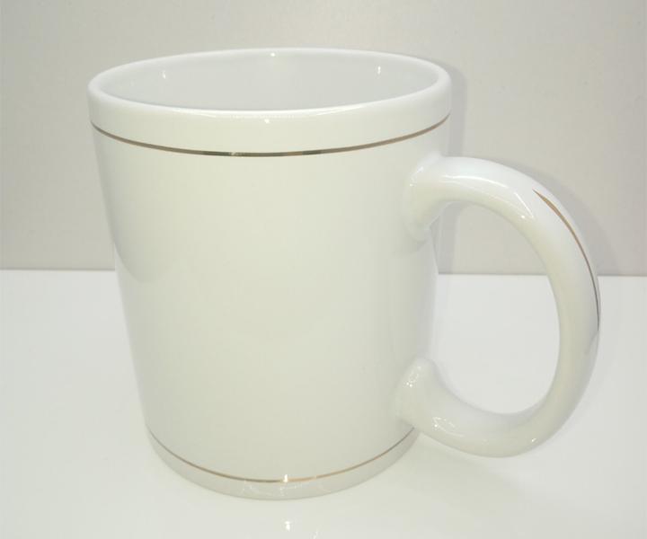 Золотой ободок Чашка белая для сублимации 330мл