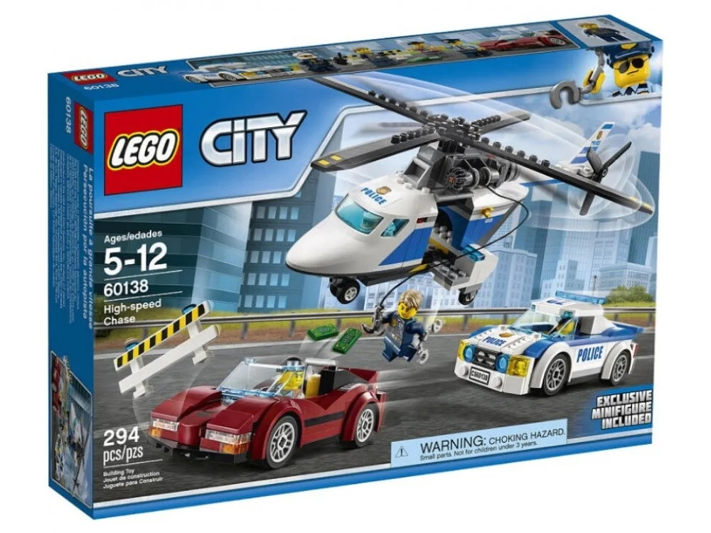 Lego City - Стрімка погоня (High-speed Chase, 294 дет), 5-12 (60138)