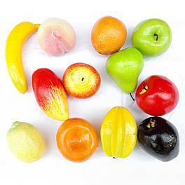 Искусственные муляжи  фруктов набором  для нуш 12 шт