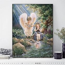 """Набор для вышивания крестиком """"Ангелок-хранитель"""" 40х50 см"""