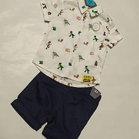 Детский костюм для новорожденных рубашка и шорты Primark (Англия) р.74см