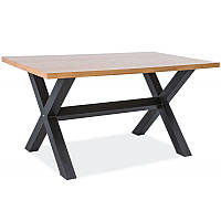 Деревянный стол Xaviero 150*90 дуб 95438, цвет - дуб/черный