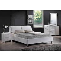 Кровать из эко кожи Кровать полуторная Mito 140X200 Белый 90817, цвет - белый