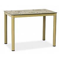 Стеклянный стол Стол обеденный Damar 100 x 60 см Темно-бежевый 82458, цвет - темный беж