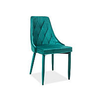 Стул из ткани Стул Trix Velvet Зеленый 93623, цвет - зеленый
