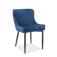 Стул из ткани Стул Colin B Velvet Синий 95249, цвет - синий