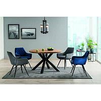 Деревянный стол Стол обеденный Ritmo 120х75 см Черный матовый, цвет - дуб