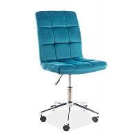 Офисные кресла Q-020 Velvet, цвет - бирюзовый
