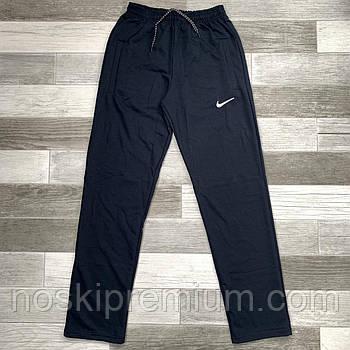 Штани спортивні чоловічі бавовна без манжета Nike, розміри 46-54, темно-сині, БМ 0115/05