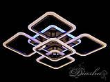 Стельова люстра з діммером і LED підсвічуванням, колір чорний хром 5588/4+1BHR LED 3color dimmer, фото 2