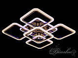Потолочная люстра с диммером и LED подсветкой, цвет чёрный хром 5588/4+1BHR LED 3color dimmer, фото 3