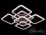 Стельова люстра з діммером і LED підсвічуванням, колір чорний хром 5588/4+1BHR LED 3color dimmer, фото 3