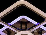 Стельова люстра з діммером і LED підсвічуванням, колір чорний хром 5588/4+1BHR LED 3color dimmer, фото 4
