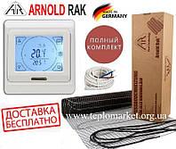 Теплый пол Arnold Rak 900Ват/5м² нагревательный мат FH-ЕС с сенсорным программируемым терморегулятором E 91