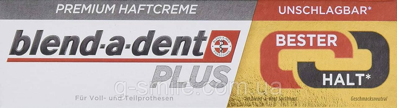 Фиксирующий крем Blend-a-dent (Kukident) Plus Premium-Haftcreme Duo Kraft для зубных протезов 40g