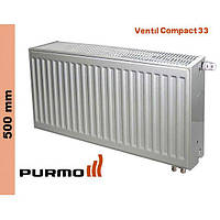 Радиатор Purmo Compact, тип 33, ниж. подк., 500*