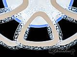 Стельова світлодіодна люстра з діммером QX2524/4+4S WH LED 3color dimmer, фото 4