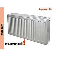 Радиатор Purmo Compact, тип 33, бок. подк., 500*