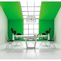 Стеклянный стол Стол обеденный Claudio 76 х 100 91313, цвет - белый