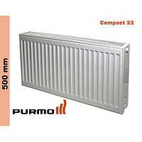 Радиатор Purmo Compact, тип 22, бок. подк., 500*