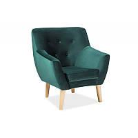 Диваны и кресла Кресло Nordic 1 Velvet Зеленый 95658