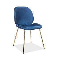 Стул из ткани Стул Adrien Velvet Синий 95145, цвет - синий