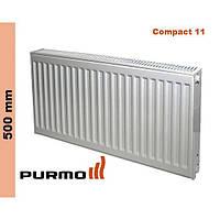 Радиатор Purmo Compact, тип 11, бок. подк., 500*