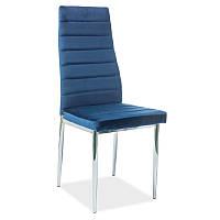 Стул из ткани Стул H-261 velvet Синий 94951, цвет - синий