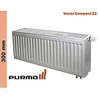 Радиатор Purmo Compact, тип 33, ниж. подк., 300*