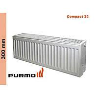 Радиатор Purmo Compact, тип 33, бок. подк., 300*