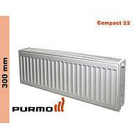 Радиатор Purmo Compact, тип 22, бок. подк., 300*