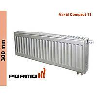 Радиатор Purmo Compact, тип 11, ниж. подк., 300*
