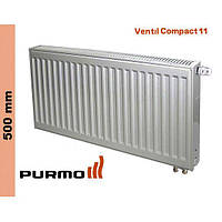 Радиатор Purmo Compact, тип 11, ниж. подк., 500*