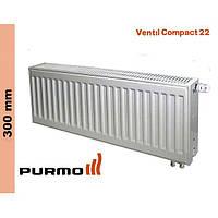 Радиатор Purmo Compact, тип 22, ниж. подк., 300*