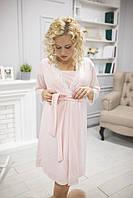 660106 Комплект ночнушка и халат розовый XL(48-50), фото 1