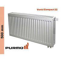 Радиатор Purmo Compact, тип 22, ниж. подк., 500*