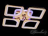 Потолочная люстра с диммером и LED подсветкой, цвет золото S8060/4G LED 3color dimmer, фото 4