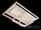 Прямоугольная светодиодная люстра MX11024/4WH dimmer, фото 5