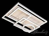 Прямоугольная светодиодная люстра MX11024/4WH dimmer, фото 6