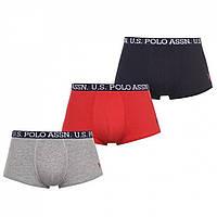 Трусы US Polo Assn US Polo Assn 3 Pack Boxers Multi - Оригинал, фото 1