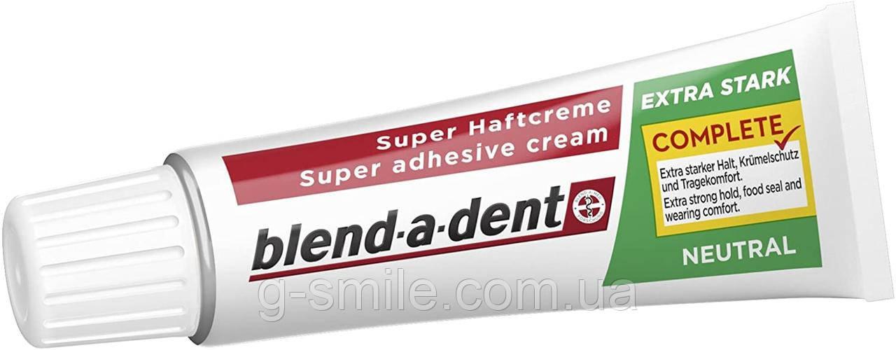 Фиксирующий крем Blend-a-dent (Kukident) Super-Haftcreme Complete extra stark -neutral для зубных протезов 40g