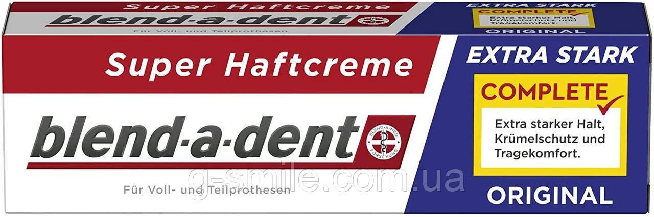 Фиксирующий крем Blend-a-dent (Kukident) Super-Haftcreme Complete extra stark для зубных протезов 40g