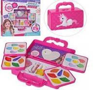 Большой набор детской косметики в сумочке пони 2959: лаки для ногтей, помады, тени, румяна